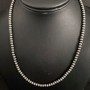 Sterling Silver 4 mm Bead Necklace